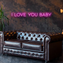 I Love You Baby Led Sign - Marvellous Neon