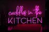Cuddles In The Kitchen Led Sign - Marvellous Neon