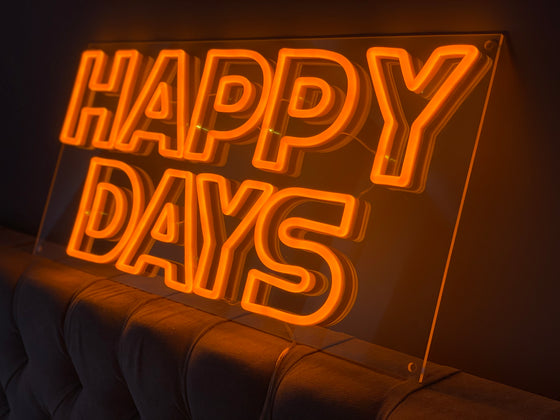Happy Days Led Sign - Marvellous Neon