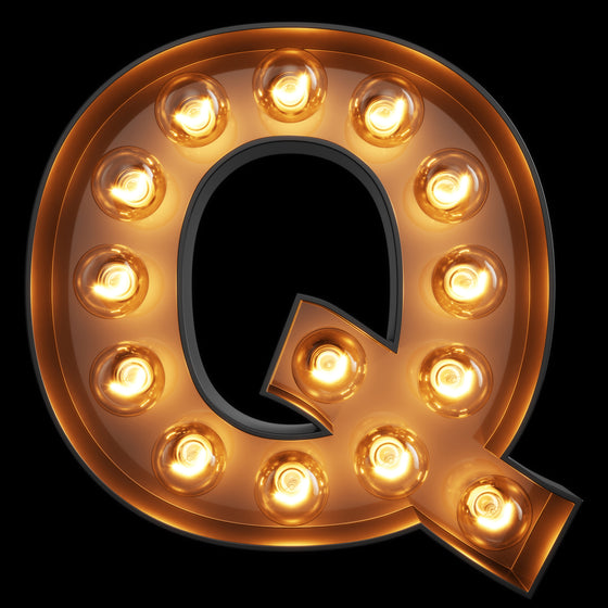 Light Up Letter - Q - Marvellous Neon