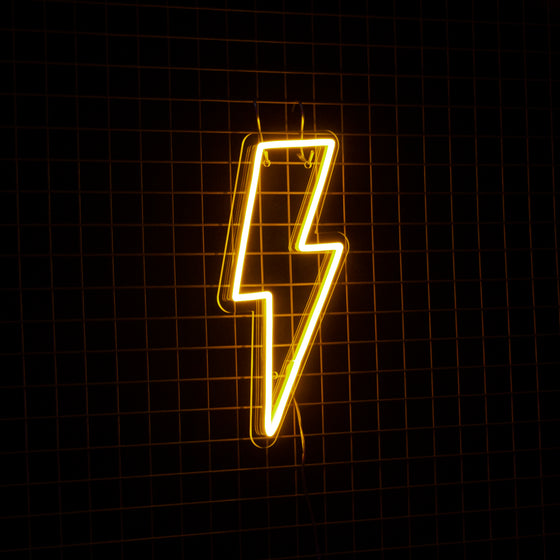 LIGHTNING BOLT WARM WHITE | NEXT DAY DELIVERY AVAILABLE - Marvellous Neon