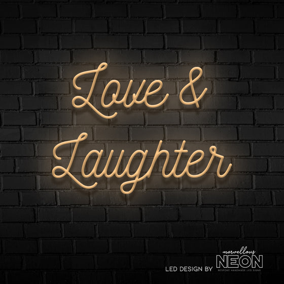 Love & Laughter Neon Led Sign - Marvellous Neon