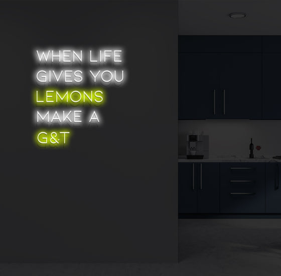 When Life Gives You Lemons Neon Sign - Marvellous Neon