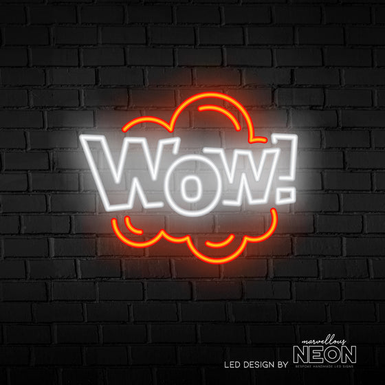 WOW Neon Sign - Marvellous Neon