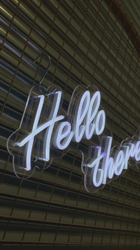 Hello There Led Sign