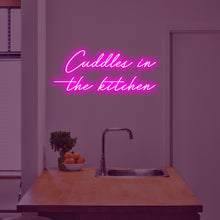 CUDDLES IN THE KITCHEN Neon Sign - Marvellous Neon
