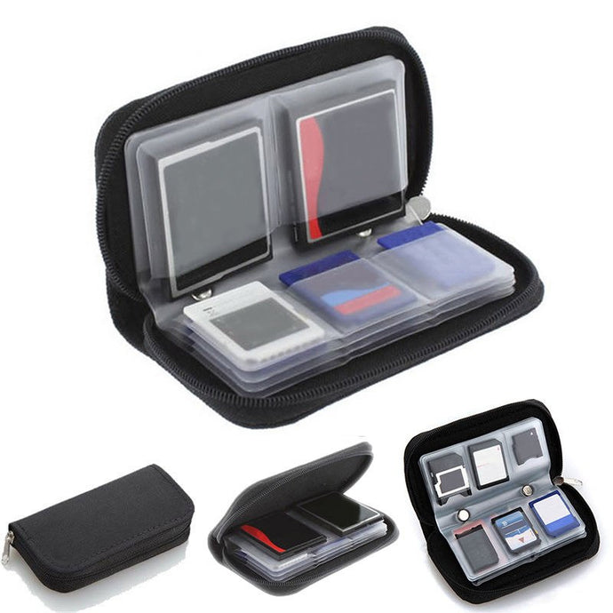 1pcs Memory Card Storage Carrying Case 22 Slots CF/SD/SDHC/MS/DS Protection Bag Portable CF/SD Card Holder Office Supplies