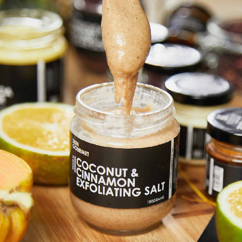 Image of Coconut & Cinnamon Exfoliating Salt - 180g