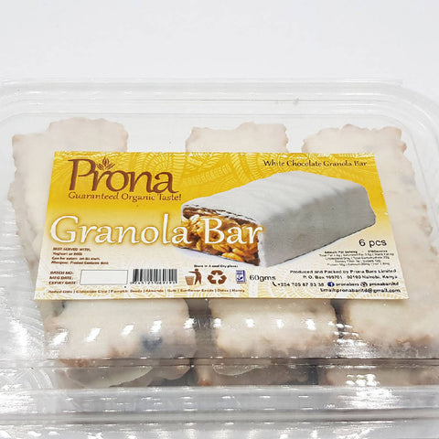 Prona Granola bars white chocolate