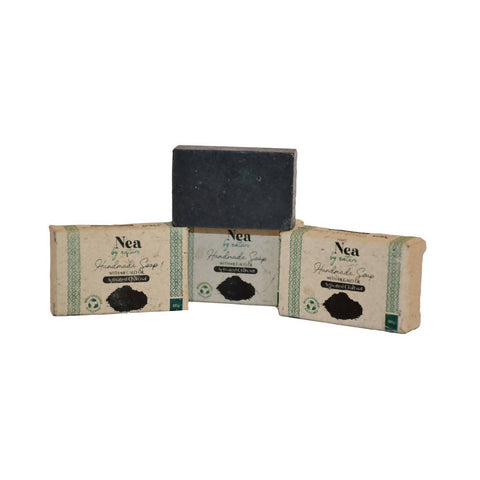 Image of Nea by Nature Activated Charcoal Soap - 100g - Pack of 3