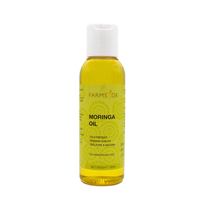 Farmsyde Organic Moringa Oil - Cold Pressed, Virgin, Unrefined (120ml) for Joints, Skin, Hair with Detoxifying Properties