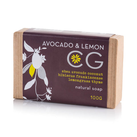 Cinnabar Bath Soap - Avocado & Lemon 100g