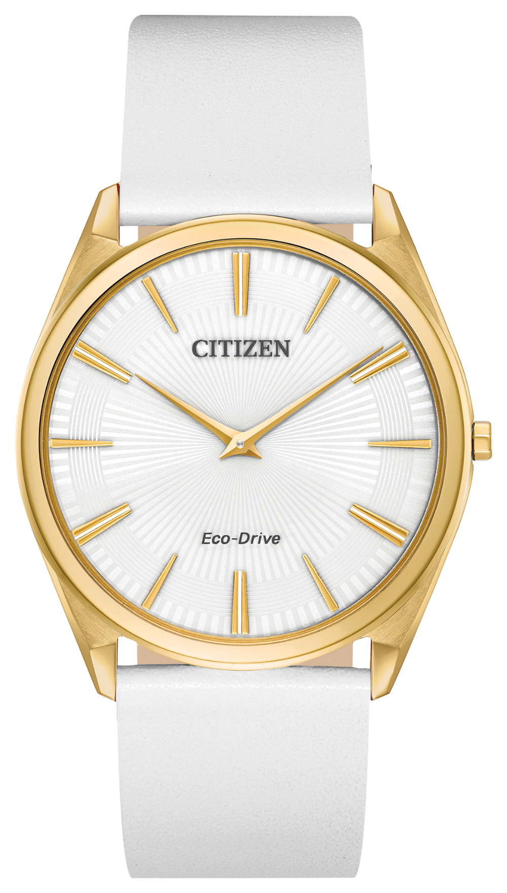 Ladies Stainless Steel Yellow Tone Citizen Eco-Drive Stiletto Watch