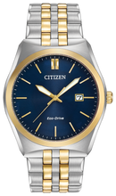 Load image into Gallery viewer, Gents Stainless Steel Two Tone Citizen Eco-Drive Corso Watch