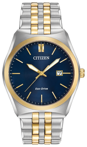 Gents Stainless Steel Two Tone Citizen Eco-Drive Corso Watch