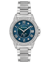 Load image into Gallery viewer, Ladies Stainless Steel Marine Star Bulova Watch