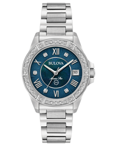 Ladies Stainless Steel Marine Star Bulova Watch