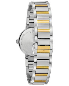 Ladies Two Tone Stainless Steel Bulova Watch