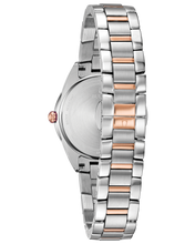 Load image into Gallery viewer, Ladies Rose and White Tone Stainless Steel Bulova Watch