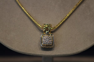 John Medeiros Anvil Collection Pendant / Gold Tone Chain