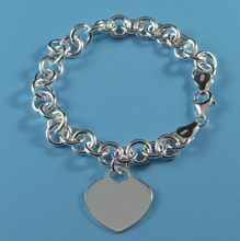 Load image into Gallery viewer, Ladies Dobbs Sterling Silver Rhodium Plated Bracelet