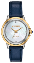 Load image into Gallery viewer, Ladies Stainless Steel Yellow and White Two Tone Citizen Eco-Drive Watch