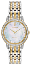 Load image into Gallery viewer, Ladies Stainless Steel Two Tone Citizen Eco-Drive Watch