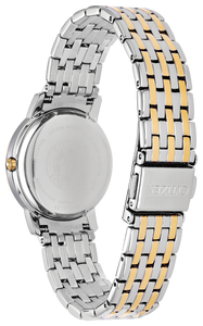 Ladies Stainless Steel Two Tone Citizen Eco-Drive Watch