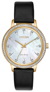 Ladies Stainless Steel Rose Tone Citizen Eco-Drive Watch