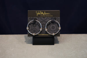 John Medeiros Beaded Collection Hoop Earrings