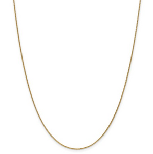 Ladies 14k Yellow Gold 1.1mm Cable Chain