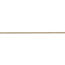 Load image into Gallery viewer, Ladies 14k Yellow Gold 1.1mm Cable Chain