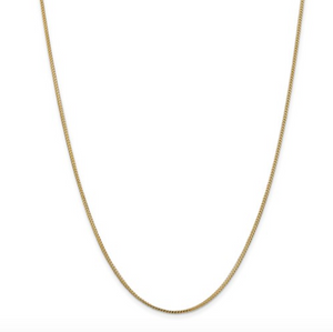 "14k Yellow Gold 1.1mm 18"" Franco Chain"