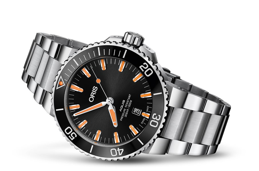 Oris Stainless Steel Aquis Date Divers Watch (43.5mm)