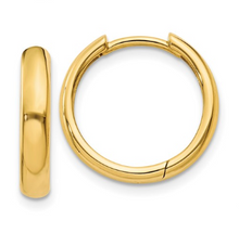 Load image into Gallery viewer, 14k Yellow Gold Hinged Hoop Earrings