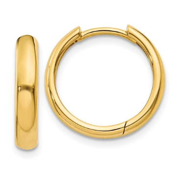 14k Yellow Gold Hinged Hoop Earrings