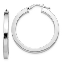 Load image into Gallery viewer, Sterling Silver Polished Hoop Earrings