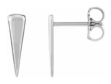 Load image into Gallery viewer, Sterling Silver Hanging Triangle Earrings.