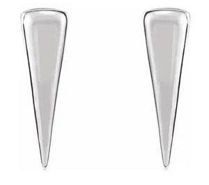 Sterling Silver Hanging Triangle Earrings.
