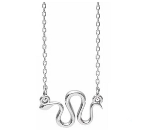 Sterling Silver Snake Necklace