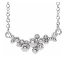 Load image into Gallery viewer, Sterling Silver Scattered Bead Necklace