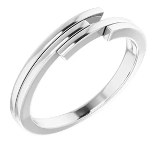 Sterling Silver Descending Bar Stackable Ring