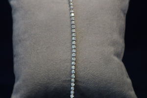 14k White Gold Prong Set Diamond Tennis Bracelet