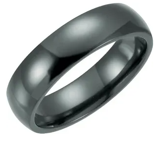 Black Titanium Dome Band (6mm)