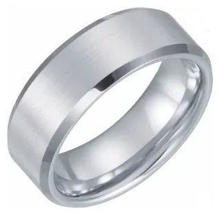 Dura Tungsten Satin Polished Beveled Band (8mm)