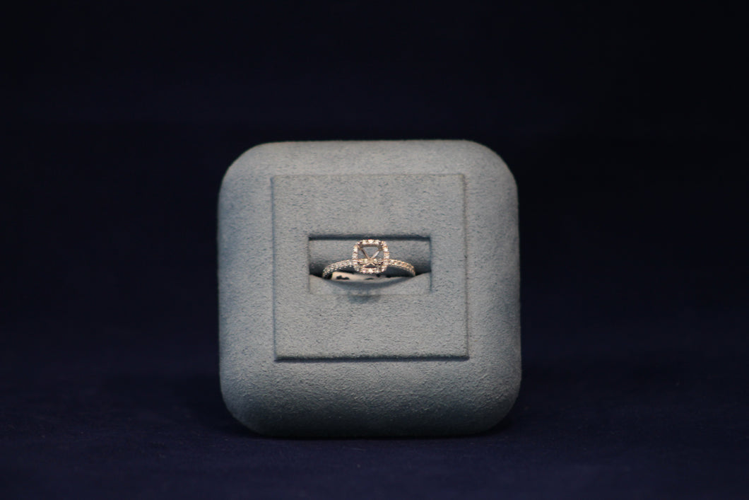 14k White Gold Diamond Engagement Ring Remount