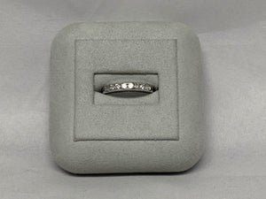14k White Gold Diamond Channel Set Wedding Band