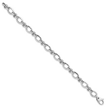 Load image into Gallery viewer, 14k White Gold Polished Bracelet (7.5 Inches)