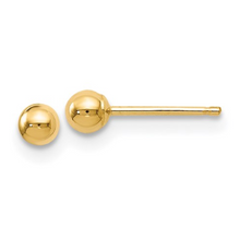 Load image into Gallery viewer, 14k Yellow Gold Polished Ball Post Earrings