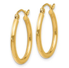 Load image into Gallery viewer, 14k Yellow Gold Polished Hoop Earrings